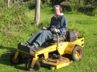 Laura and her mower